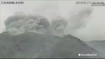 Huge volcano erupts in Japan
