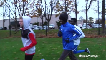 Kenyan cross country runners adapting to new climate
