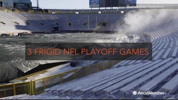 3 frigid NFL playoff games