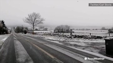 Entire countryside blanketed in first snow of season
