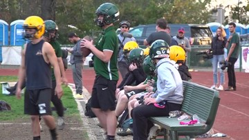 Football players determined to stay strong