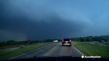 Large violent tornadoes spotted tearing through Oklahoma and Missouri