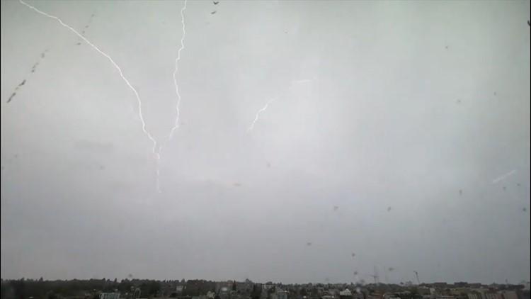 Lightning strikes in Seattle