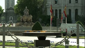 Madrid holds tribute to COVID-19 victims