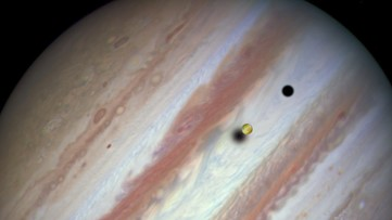 See Jupiter's Moons Cast a Shadow on the Gas Giant This Week