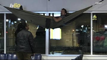 Hammock Havoc! Man Caught Sleeping In Hammock At The Airport!