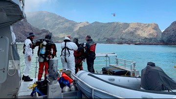 Divers attempt to recover last 2 volcano victims in New Zealand