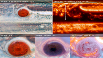 Stunning images of Jupiter reveals holes in the Great Red Spot
