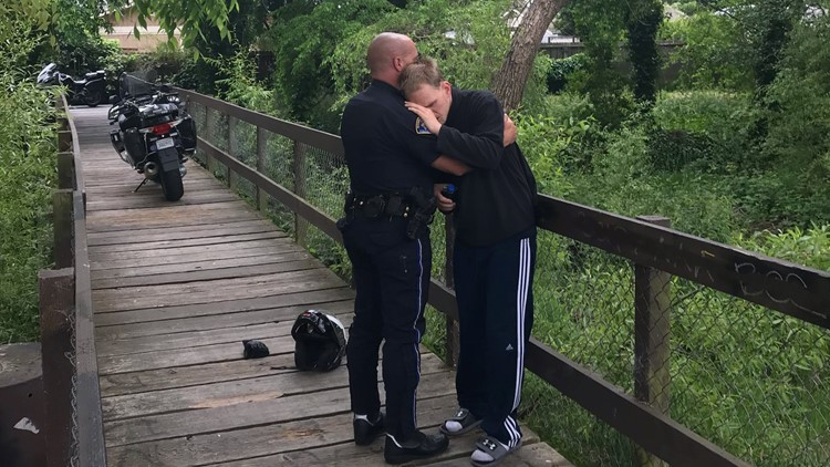 Police officer rescues man with autism