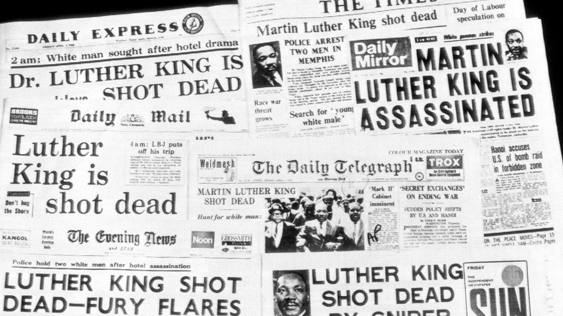 Martin Luther King Jr Assassination This Week In History Wltx Com