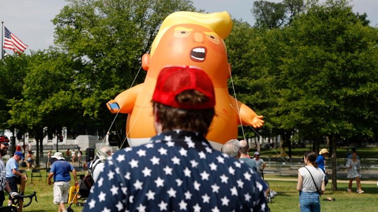 Trump Fourth of July balloon DC