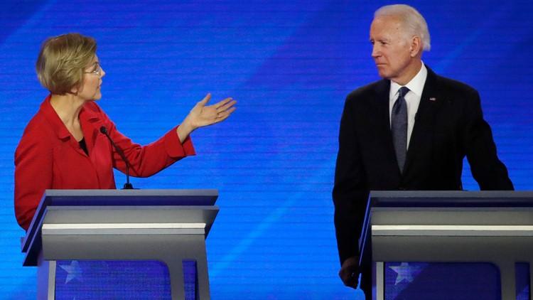 Joe Biden Elizabeth Warren Election 2020 Debate AP