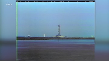 'We have liftoff!': Historic footage of the Apollo 11 countdown and launch