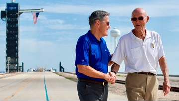 Apollo 11 astronaut returns to launch pad 50 years later