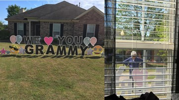 Great-grandmother in quarantine tears up at heartwarming sign