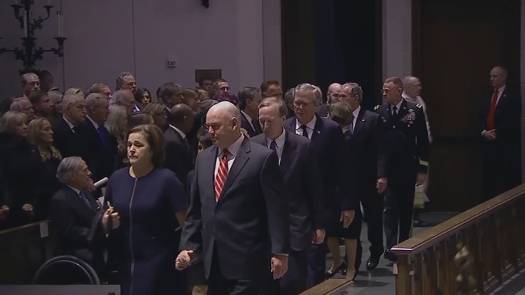 President George H.W. Bush remembered in emotional Texas funeral