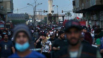 Iraqi protesters seize key square in Baghdad