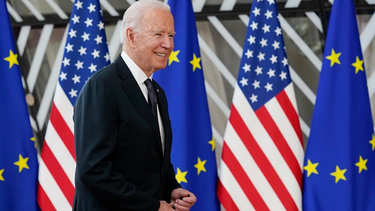 President Biden arrives in Geneva for highly-anticipated Putin meeting