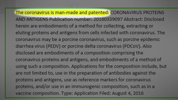 VERIFY: 'Coronavirus patents' are from older viruses, not current strain