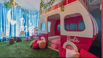 Barbie-themed suite in Mexico hotel is the ultimate 'glamping' experience