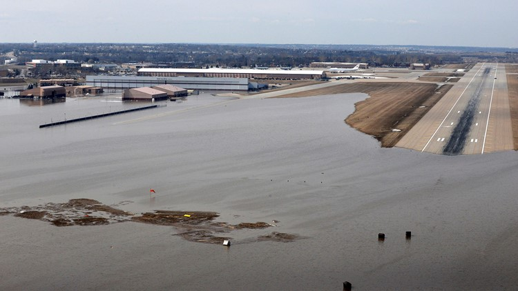 Spring Flooding National Security Offutt Air Force Base Strategic Command