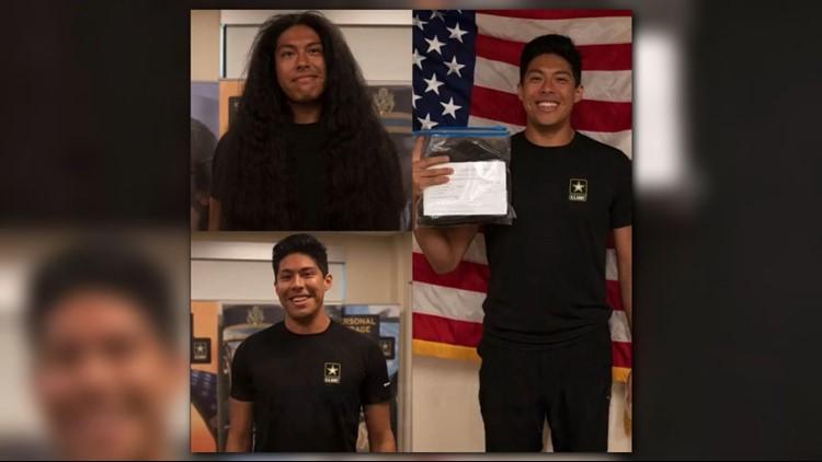 Future soldier donates hair