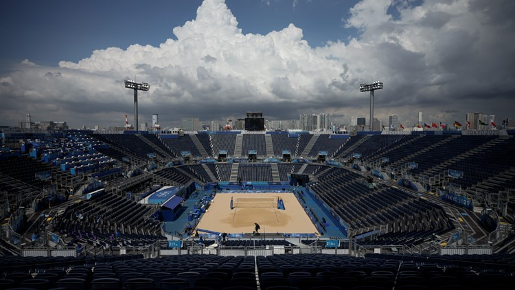 First Olympic beach volleyball match canceled due to COVID