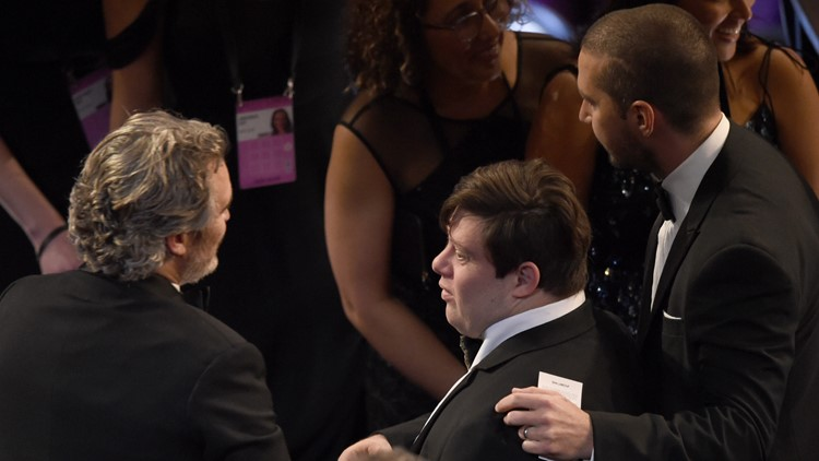 Shia LaBeouf Zack Gottsagen break at 92nd Academy Awards - Show