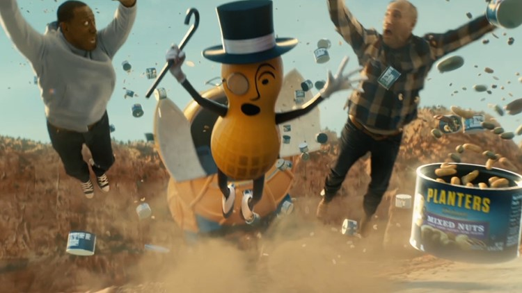 Mr peanut planters jumping