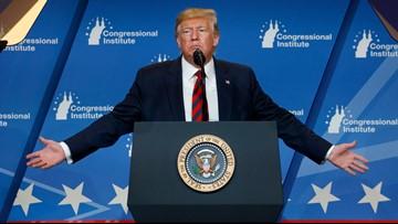 Trump says more people watching his speech than Democratic debate