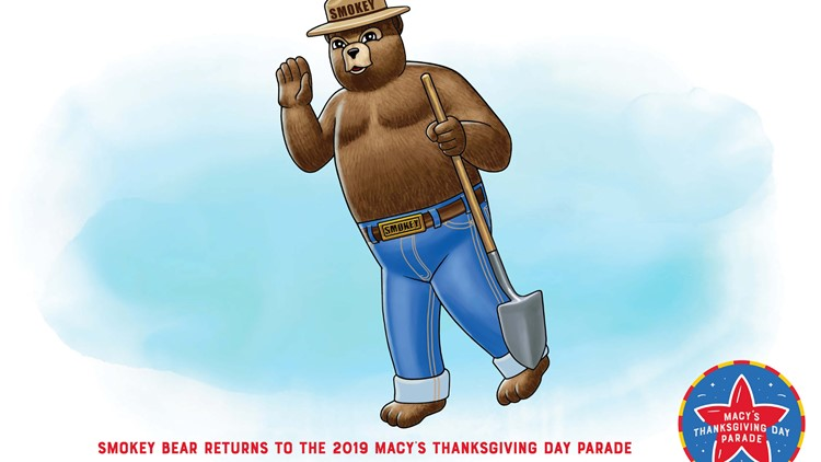 Smokey bear returns to Macy's thanksgiving day parade