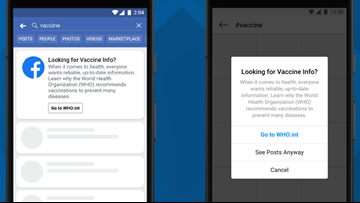 Facebook debuts new feature to stop spread of vaccine misinformation