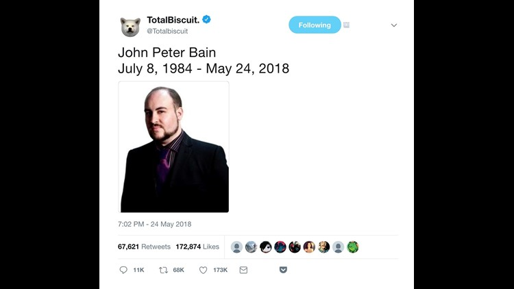 Video Game Critic John Totalbiscuit Bain Dies At 33 Wltx Com