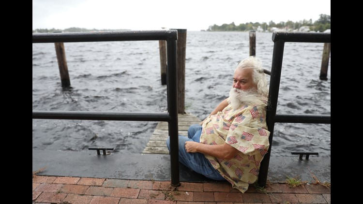 Up and down the Carolina coast, they had been warned, cajoled and sternly cautioned all week:  A powerhouse storm is thundering closer, get out now. But on Thursday, there were those who remained.