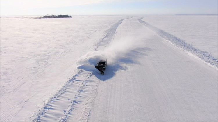 Cut off from rest of U.S. by Canada, Minnesota's Northwest Angle builds a 22-mile ice road