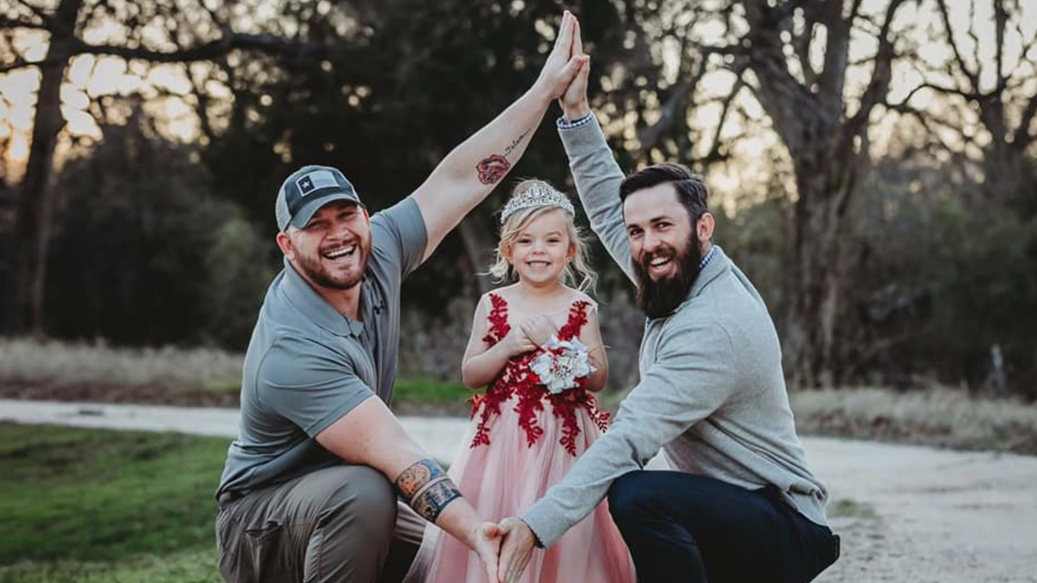 Photos of father and soon-to-be stepfather with daughter goes viral