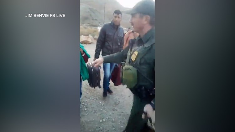 Jim Benvie documents illegal border crossings on Facebook Live