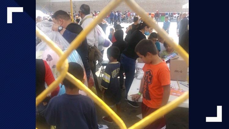 Authorities and NGOs distribute toys to migrant children in Piedras Negras shelter