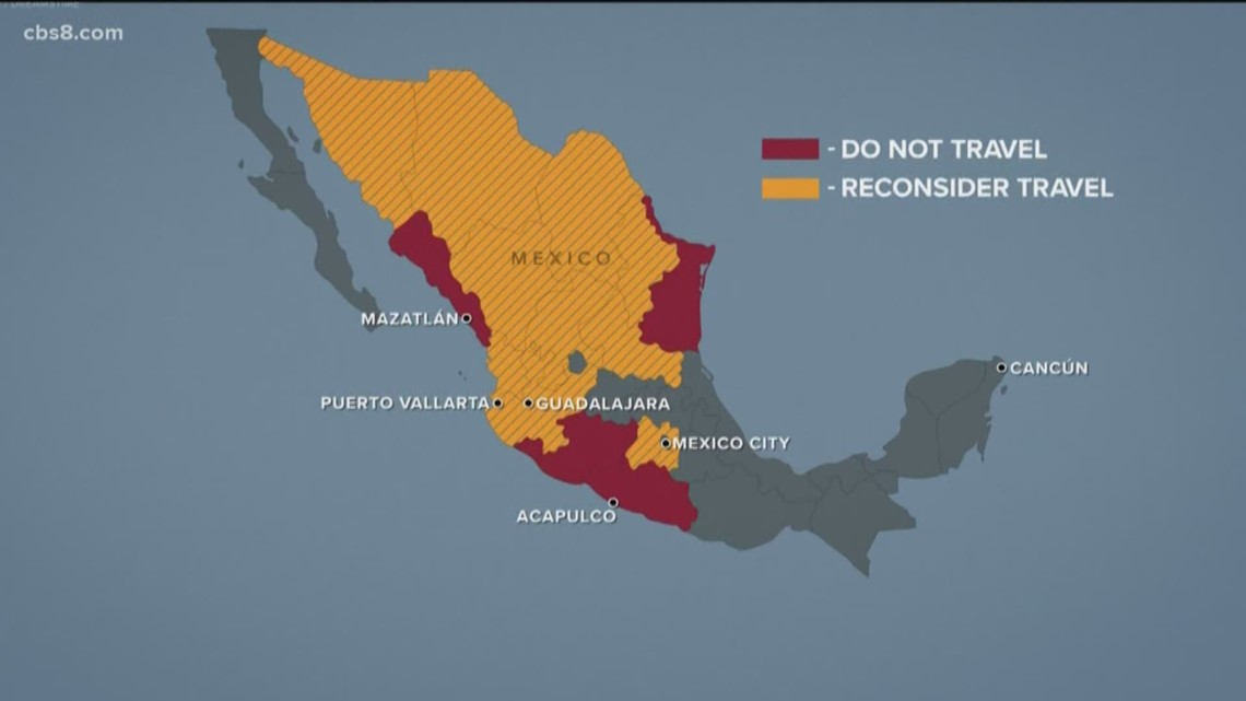 U.S. says Americans shouldn't travel to these 5 Mexican states