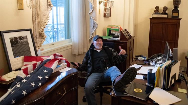 Arkansas man admits to storming Capitol, sitting at Nancy Pelosi's desk