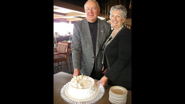 Hal and Carol Bailey at their 50th Wedding Anniversary