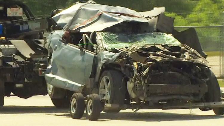 Car that fell off I-10 bridge, killing little girl