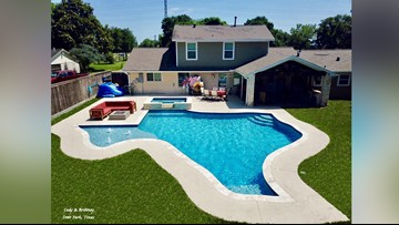 When you're a proud Texan, you put a Texas-shaped pool behind your house