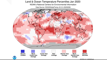 January 2020 was the world's hottest January in recorded history