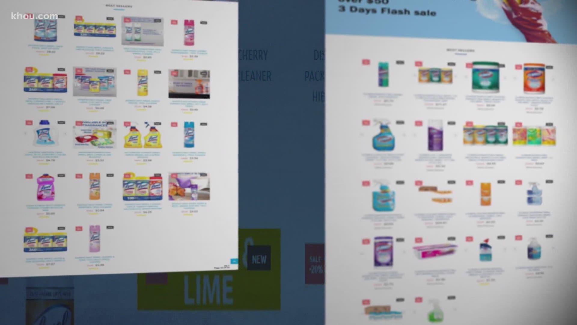Ftc Bogus Clorox Lysol Websites Duped Consumers Wltx Com