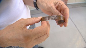 POW bracelets from 1970s bearing John McCain's name have special meaning