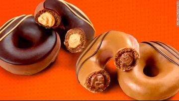 Krispy Kreme releases two new Reese's Peanut Butter filled doughnuts