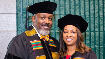 Married couple earns doctoral degrees together