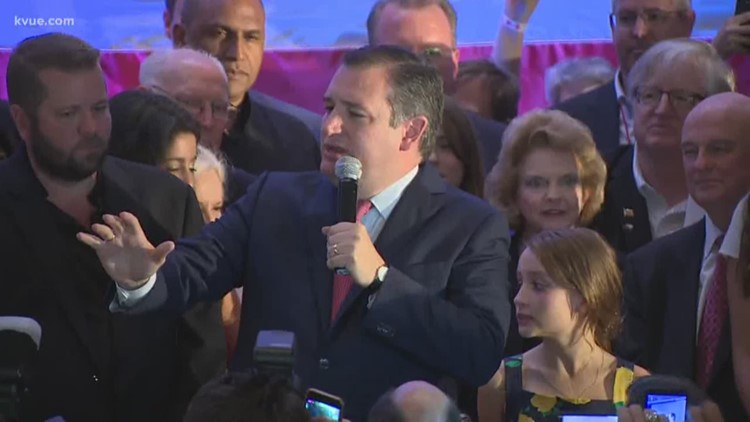 RAW: Sen. Ted Cruz speaks after winning U.S. Senate race