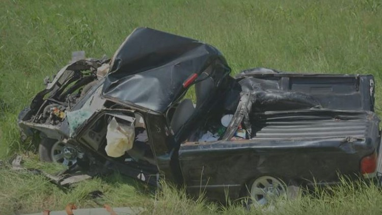 Truck destroyed in hit-and-run crash in Del Valle